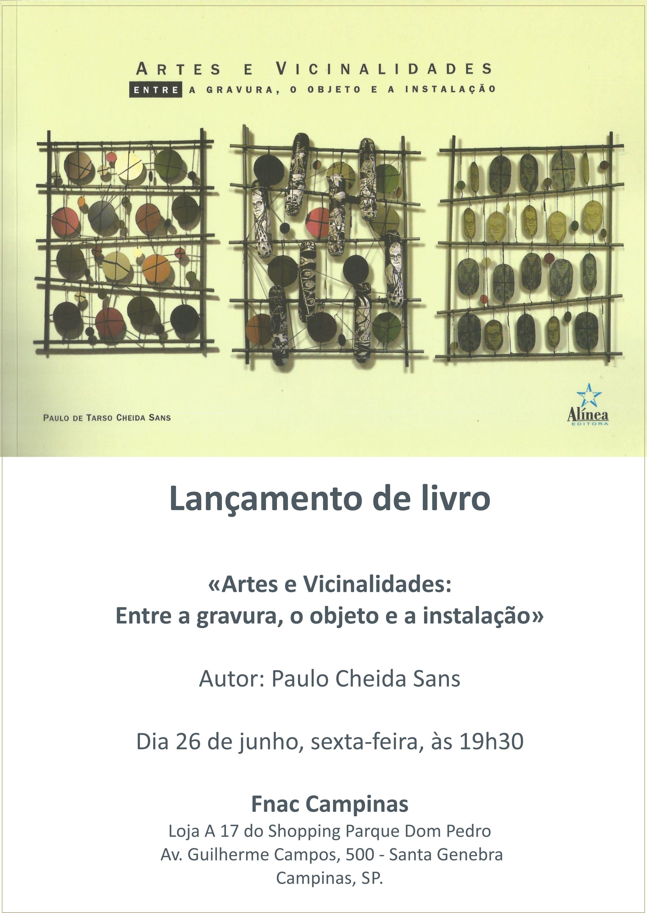 convite fnac campinas shopping parque d pedro paulo cheida sans lançamento livro artes e vicinalidades